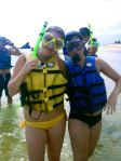 Sara and I before we both lost our snorkels